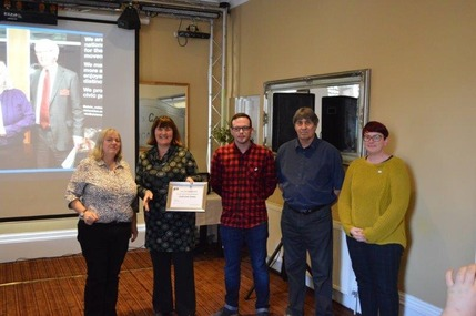 Goole Civic Society committee receives Award from Civic Voice Regional Committee Chair