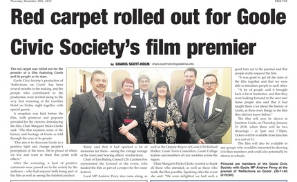 Goole Times coverage of Goole Civic Society film premiere