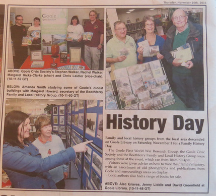 Goole Times coverage of Goole Family History Day