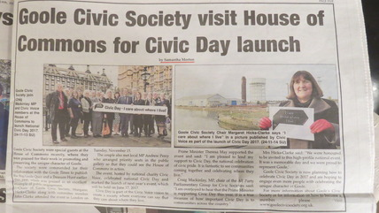 Goole Times coverage of Civic Day launch at House of Commons