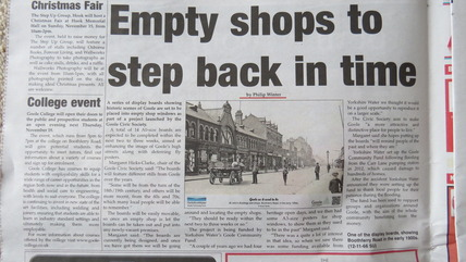 Project launched to brighten up empty shops in Goole town centre
