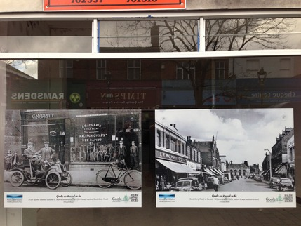 Images of old shopping streets go on display in the heritage port town of Goole in the East Riding of Yorkshire
