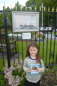 Sophie aged 6 walks Reuben Chappell Art Trail